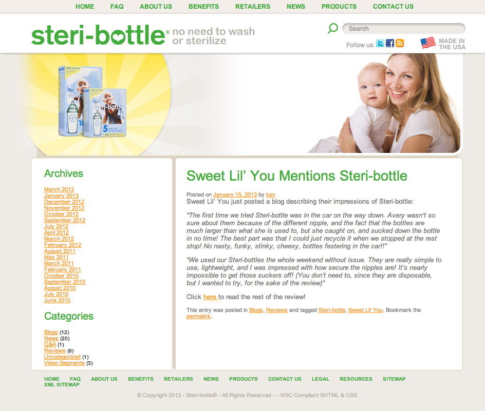 steri-bottle review