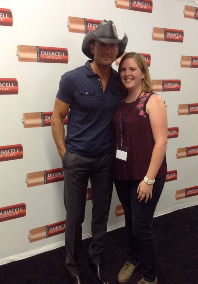 Tim McGraw and I at the Duracell Quantum Launch