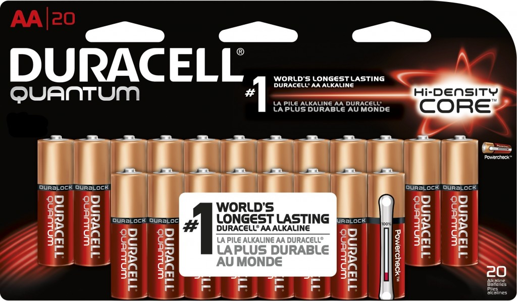 20 Pack of AA Duracell Quantum batteries