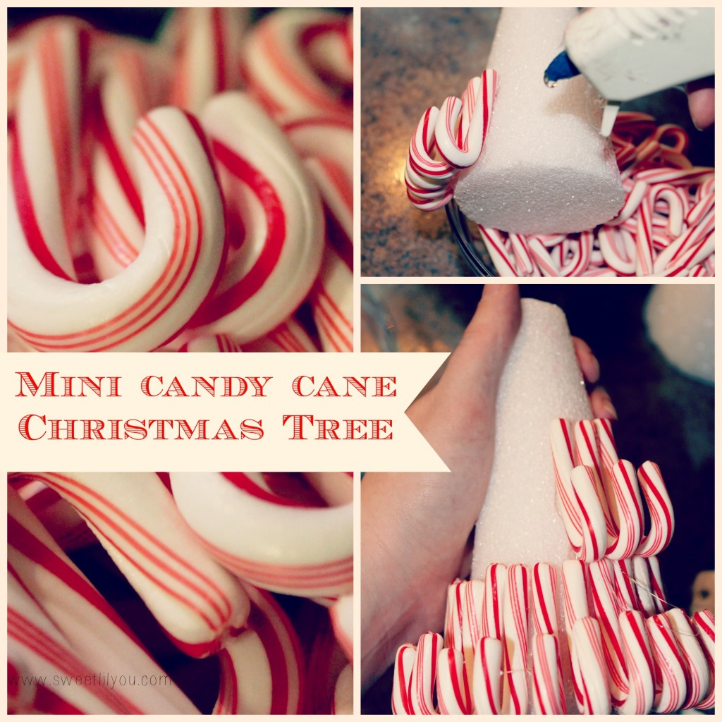 Mini Candy cane christmas tree Price Chopper sweetlilyou holiday decorating #Shop #HolidayAdvantEdge