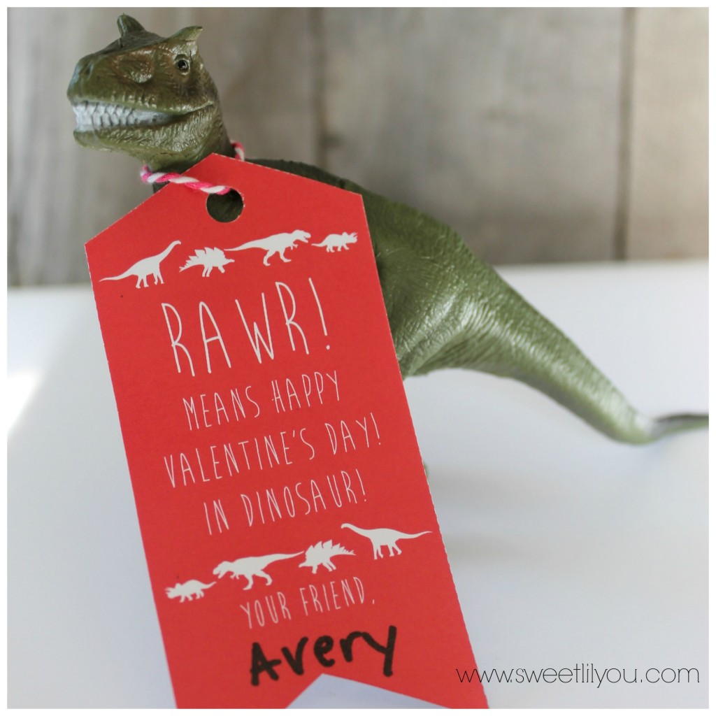 Dinosaur valentines for boys and girls