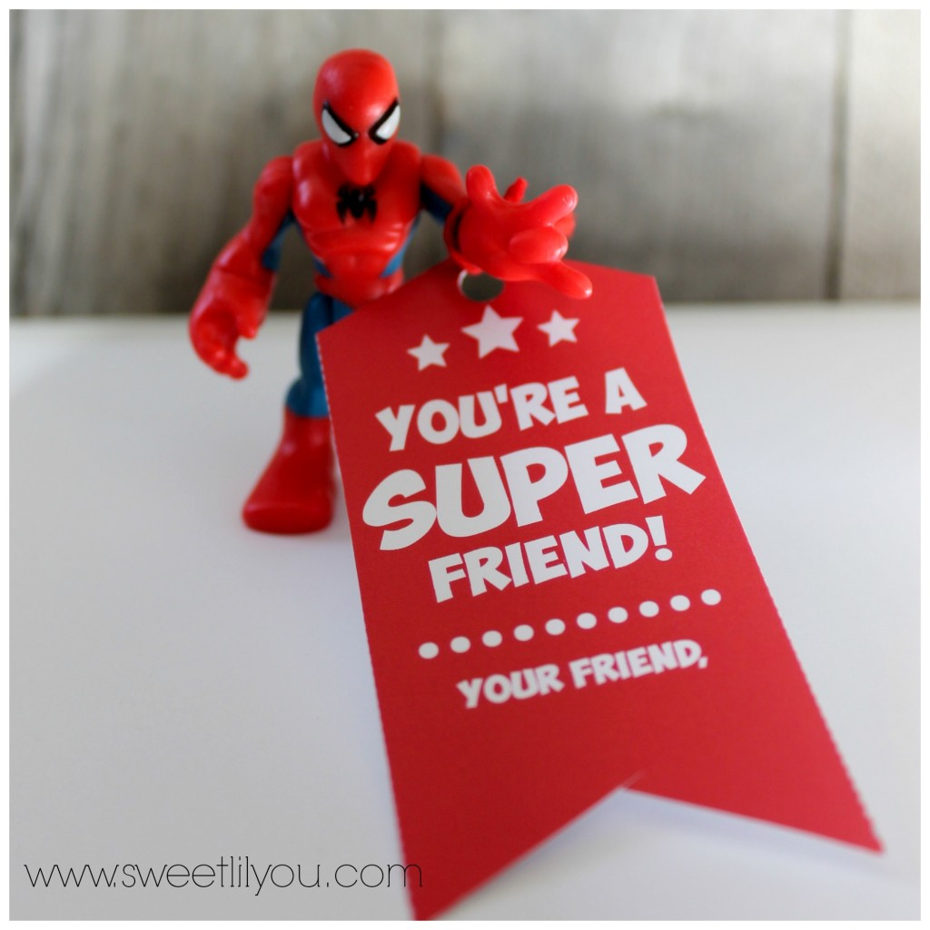 Spiderman Superhero valentines for boys and girls