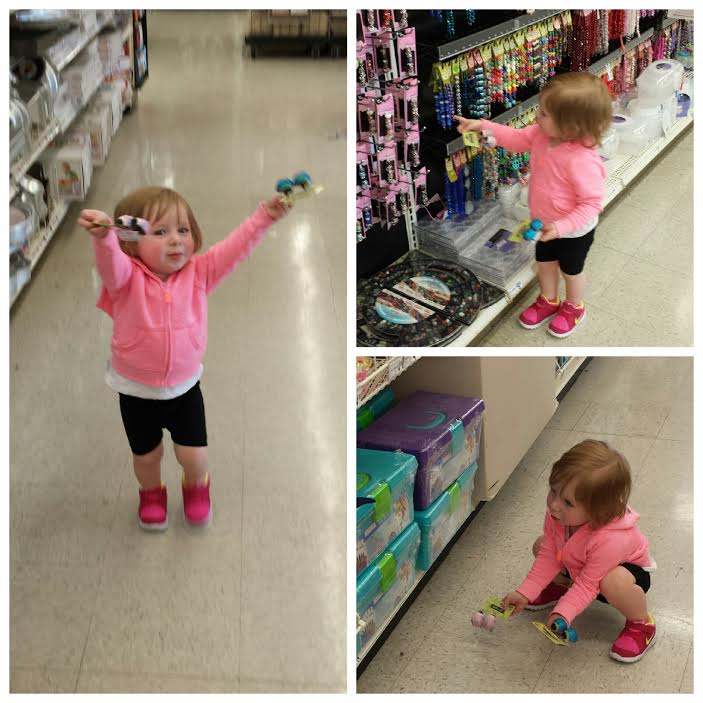 Avery shopping at Micheal's arts & crafts
