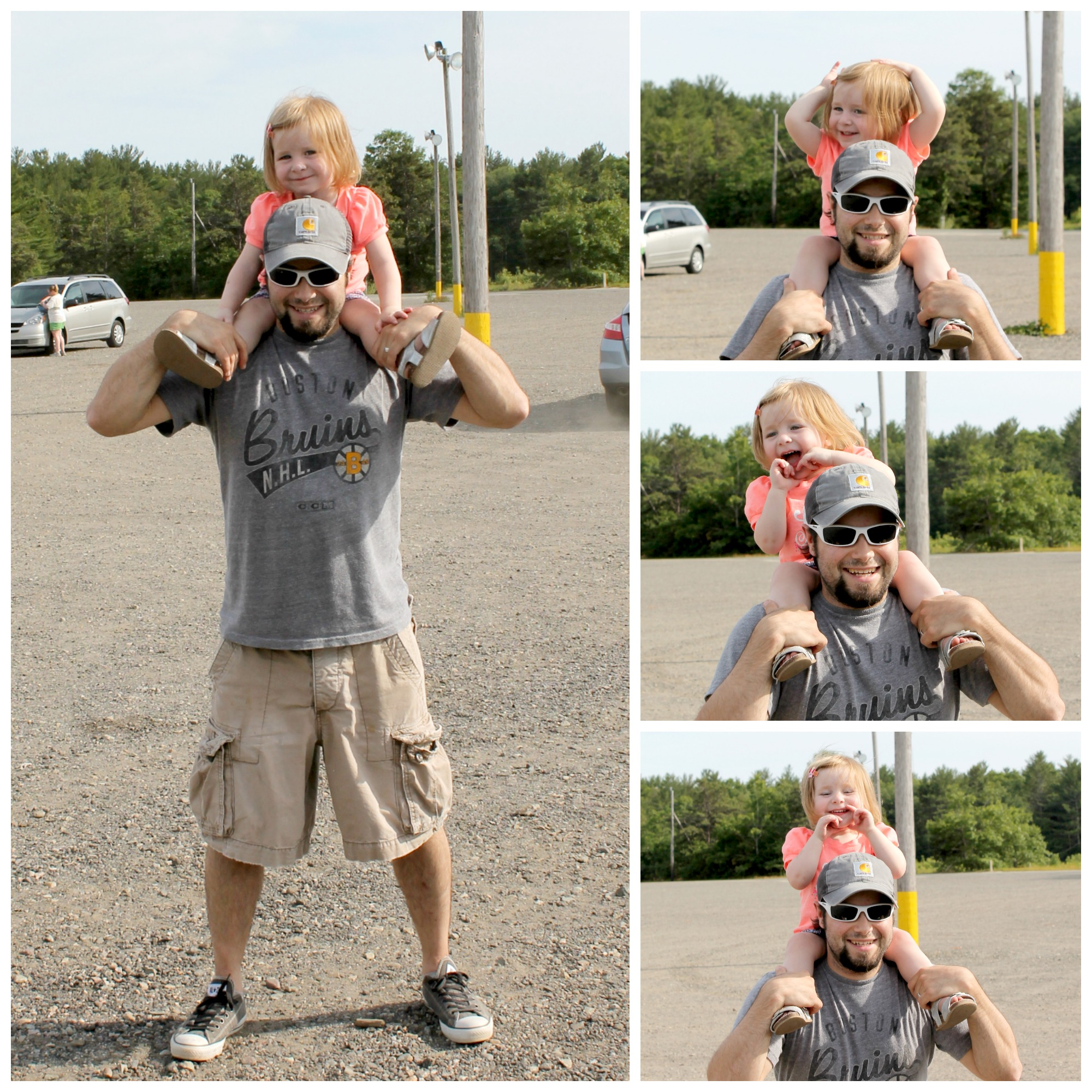 Avery and Daddy at Edaville