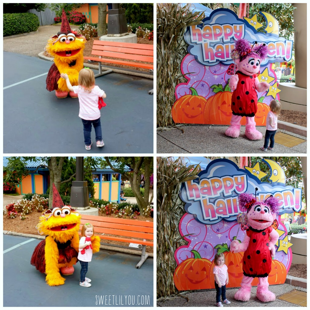 Meeting Characters at Sesame Place