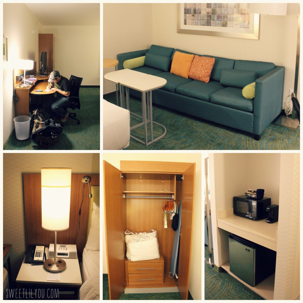 amenities in the Spring Hill Suites King room Langhorne PA near Sesame Place