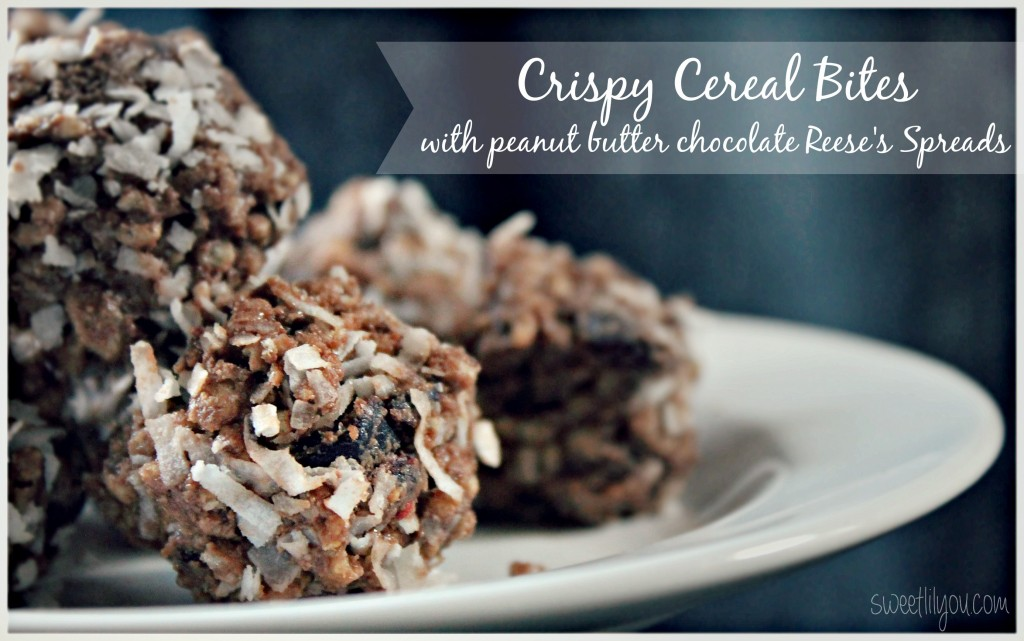 Crispy Cereal Bites with Reese's Spreads  #AnySnackPerfect #ad
