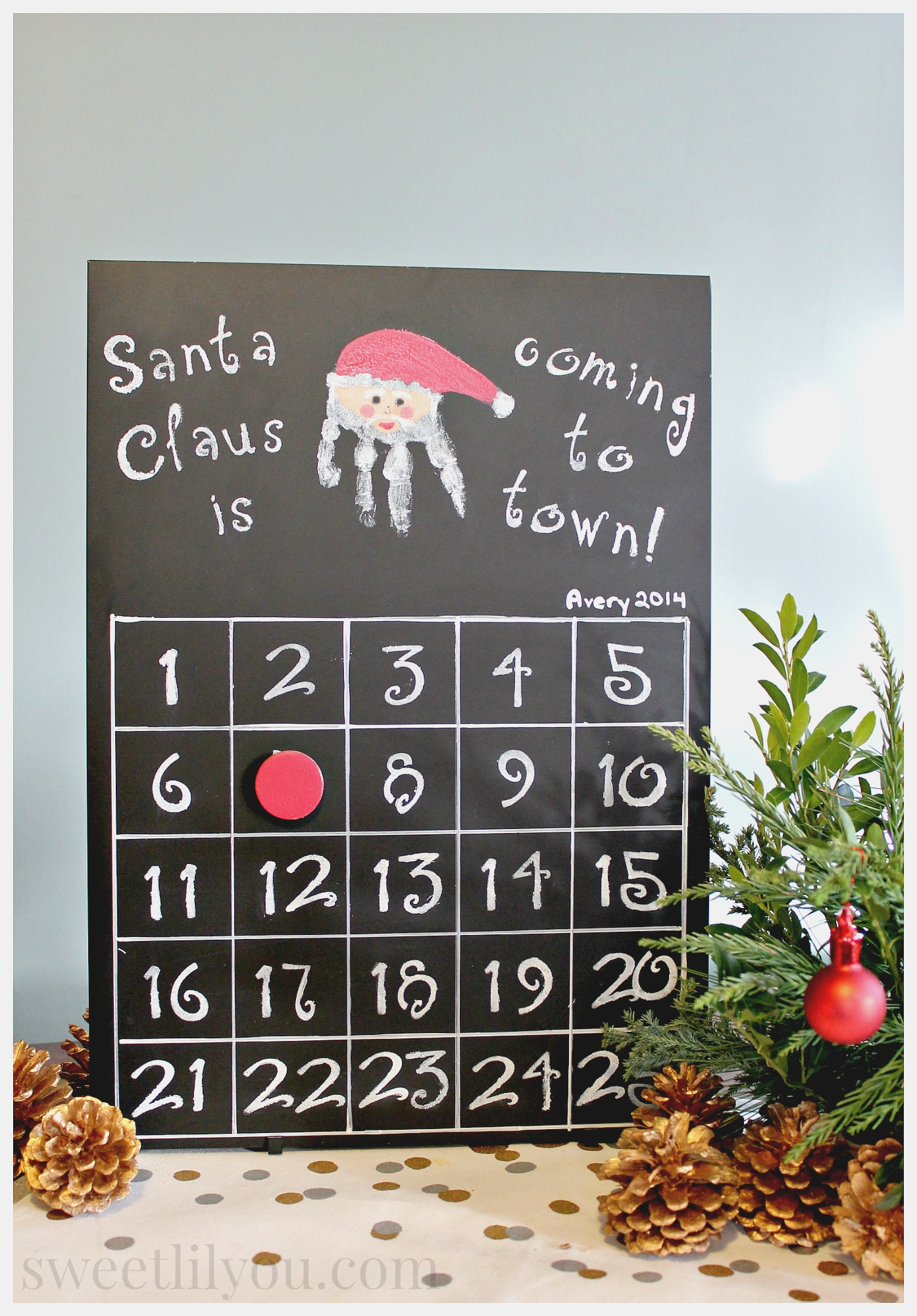 Christmas countdown calendar diy sweet lil you for Make your own christmas countdown calendar