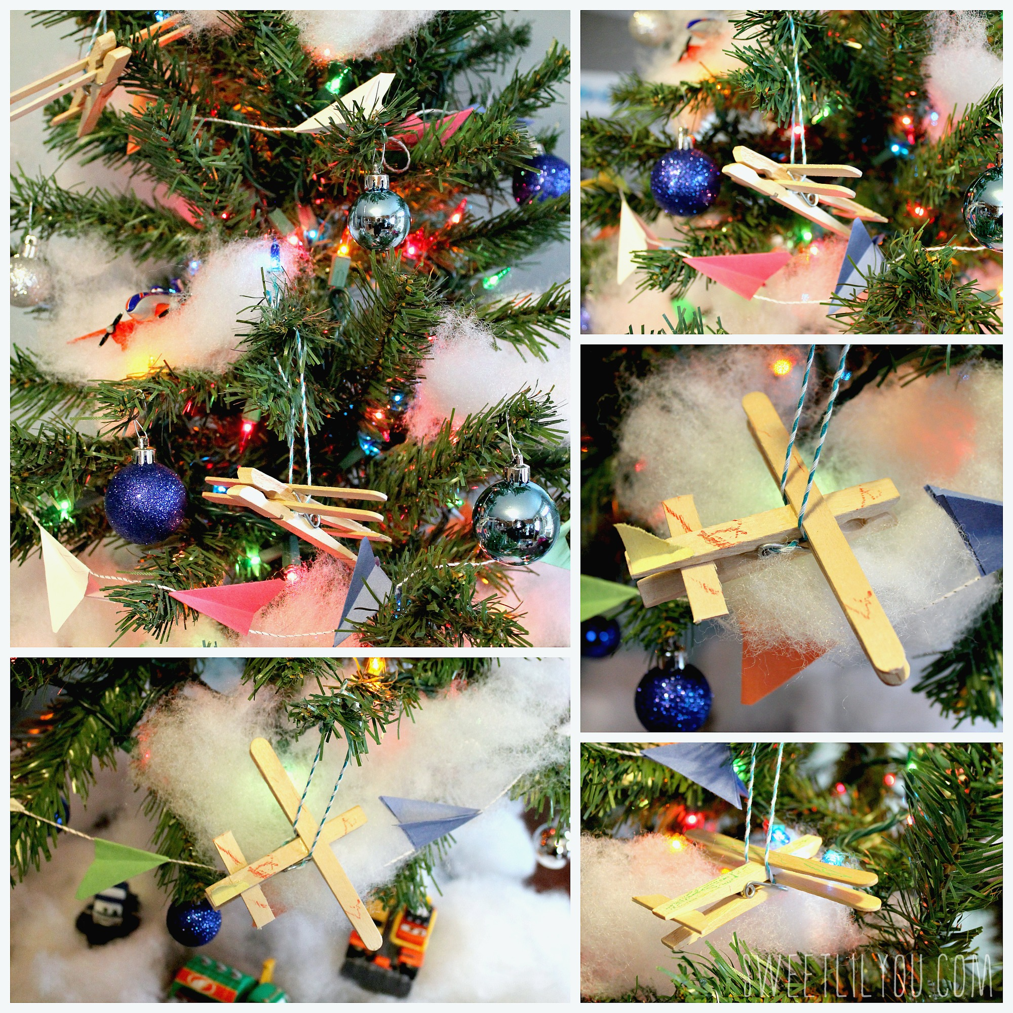 Wooden Plane Ornaments Clothespin PlanesToTheRescue