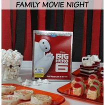 Big Hero 6 Family Movie night with snacks and crafts! #BigHero6Release #ad