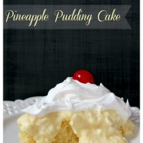 Delicious and simple Pineapple Pudding Cake - Recipe from Sweetlilyou.com