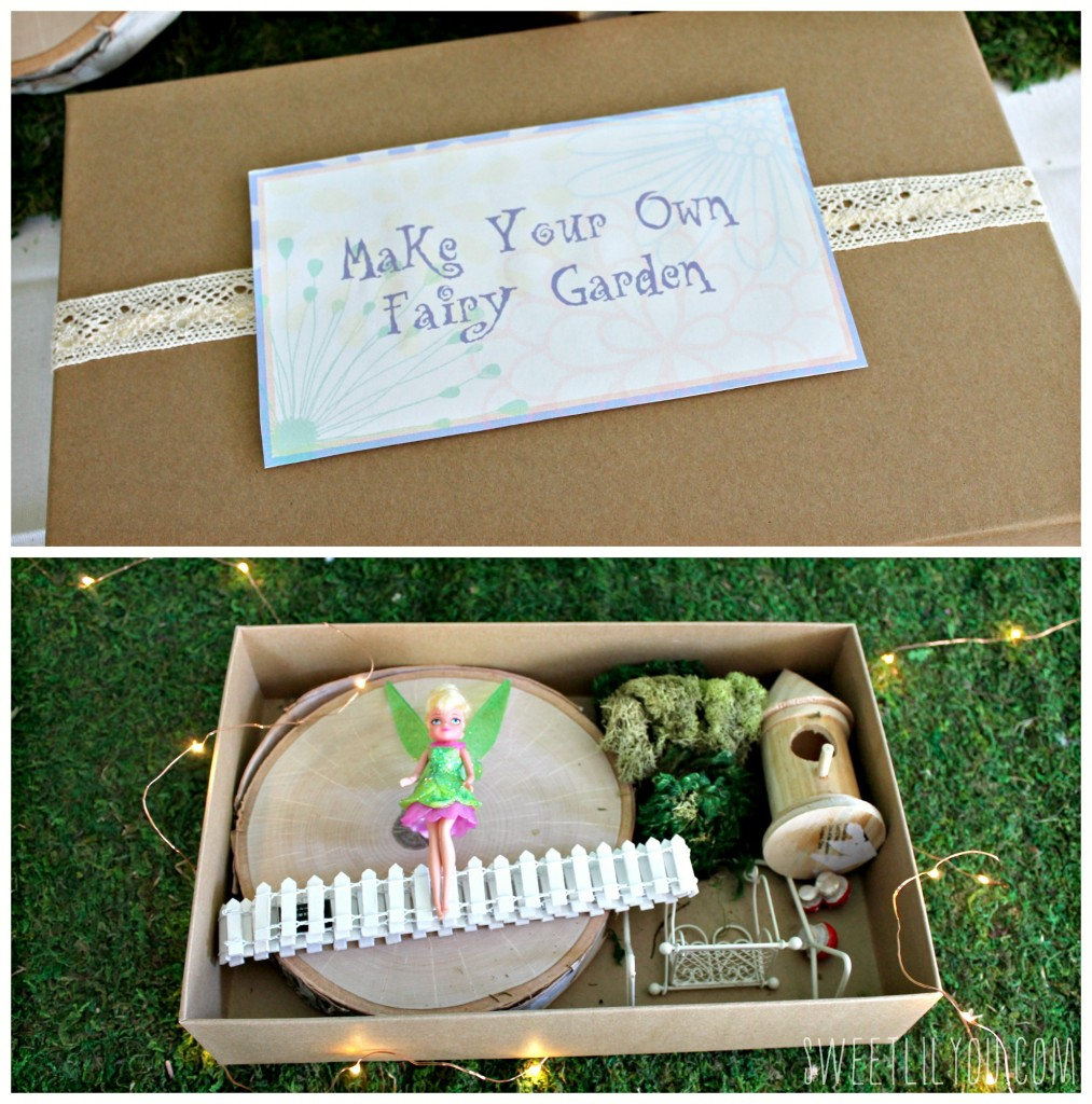 Make Your Own Fairy Garden! Tinker Bell Party Craft! From SweetLilYou.com