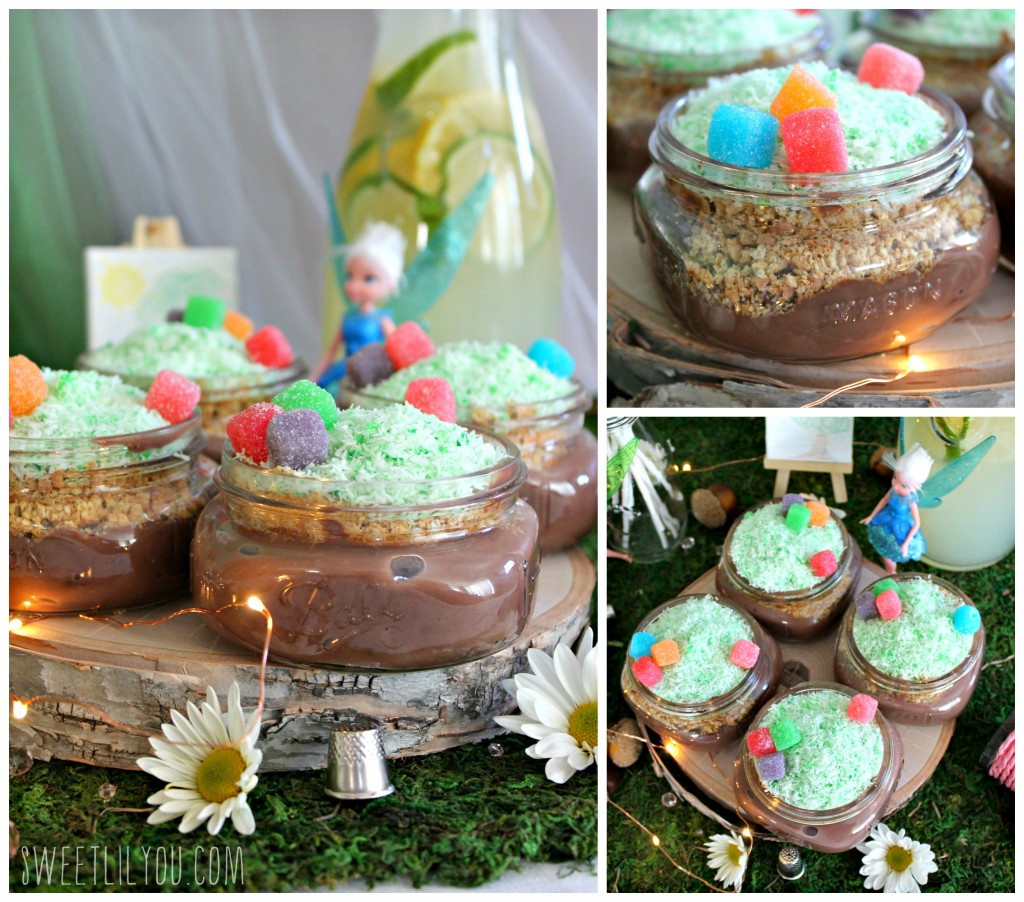 Pixie Hollow Pudding! Tinker Bell Party food! From SweetLilYou.com