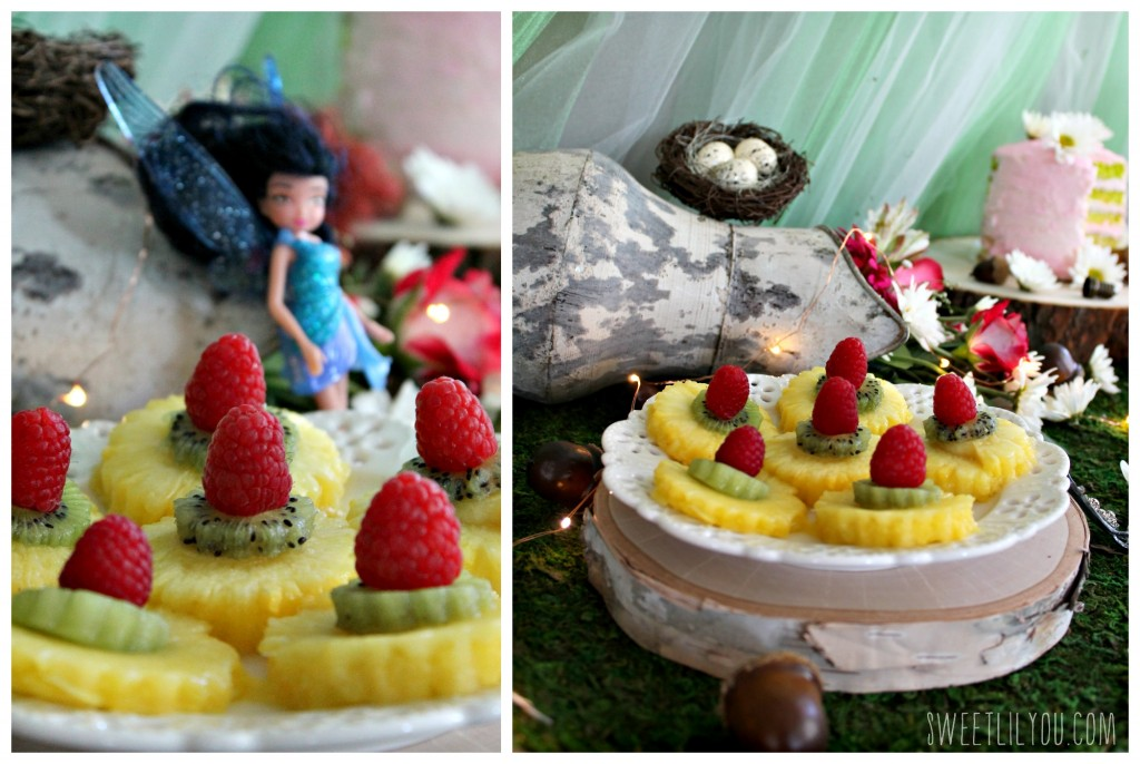 Tink's Fruity Flowers! Tinker Bell Fairy party food. From SweetLilYou.com