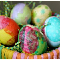 Tissue and Napkin Decoupage Easter Eggs