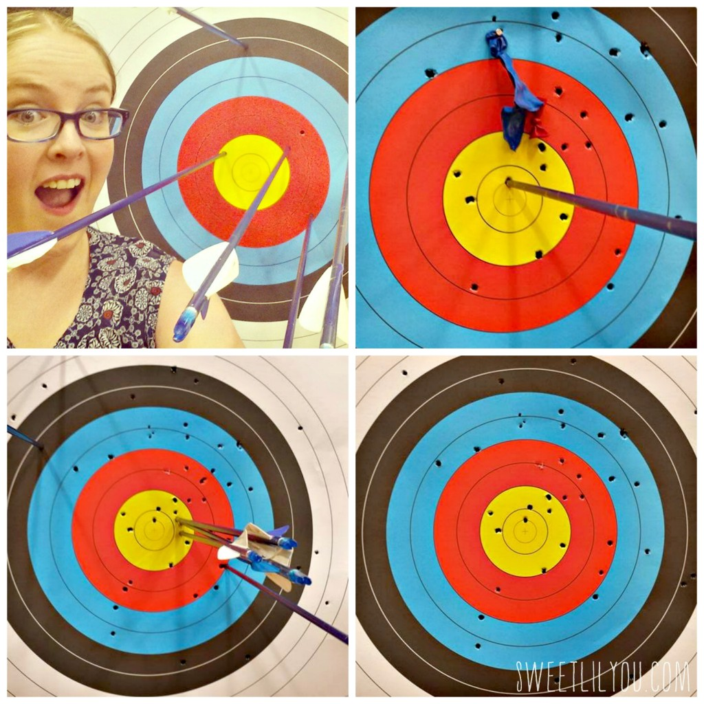 Fun at Ace Archers Learning about archery