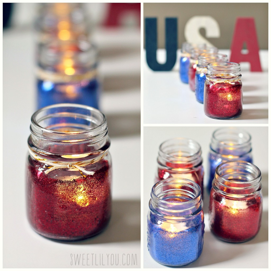 Glittery tealight holders