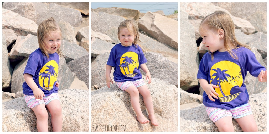 Sitting on the rocks at the beach