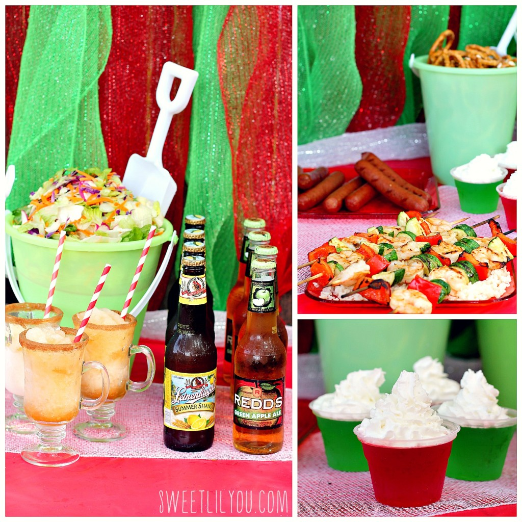 Shrimp with shandy marinade apple ale slushies for Christmas in july party ideas