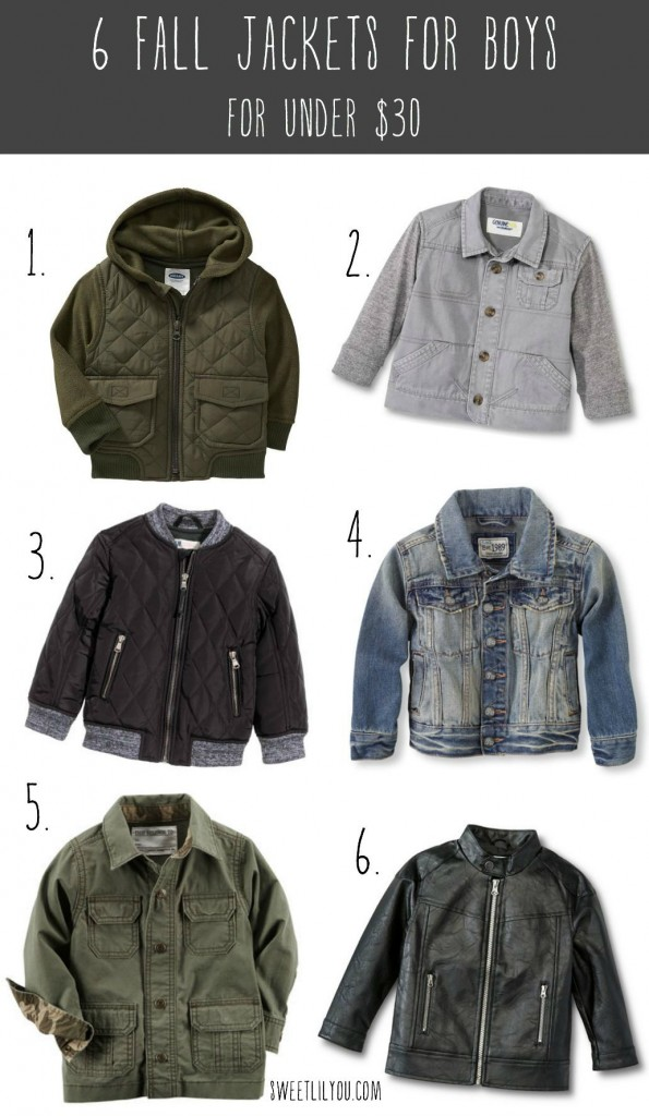 6 Fall Jackets for Boys for Under $30