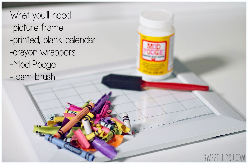 What You need for family calendar craft