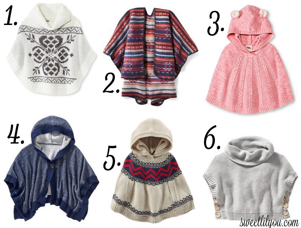 Fall Trend - Ponchos for Girls
