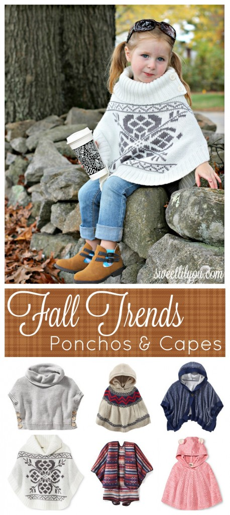 Fall Trends - Ponchos & Capes - #Microfashion sweetlilyou.com