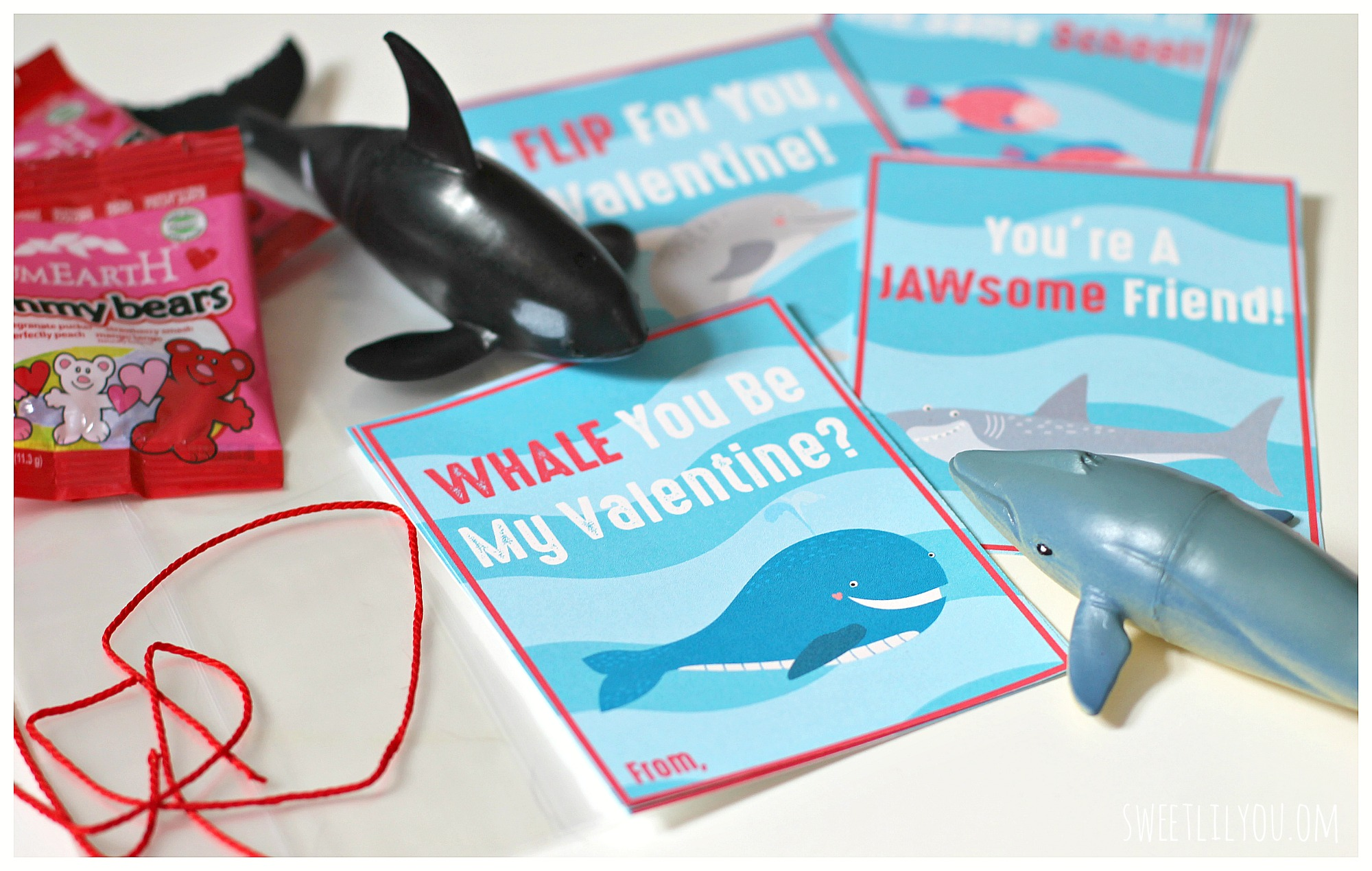 valentines day card shark - Under The Sea Valentines Free Printable Cards sweet