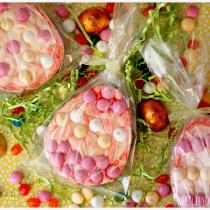 Easter Eggs with Chocolate and Strawberry