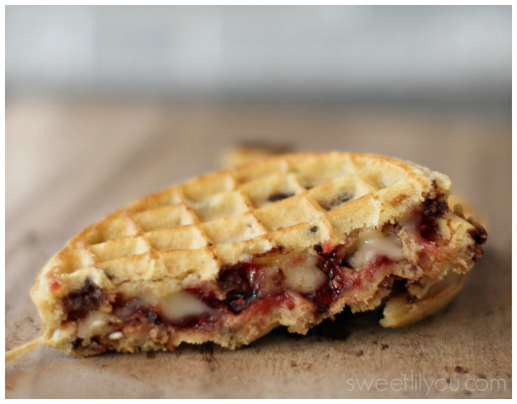 Rasberry and Brie Waffle Grilled Cheese