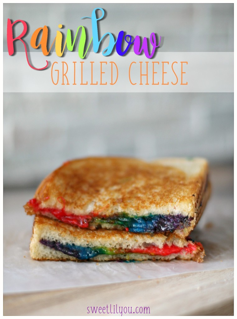 Rainbow Grilled Cheese - Easy and Fun