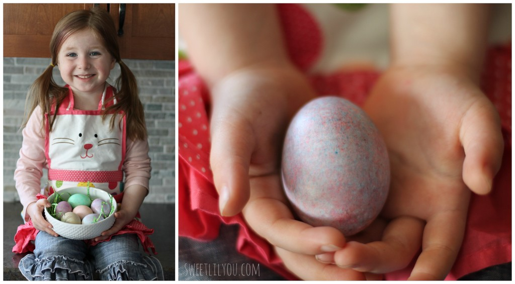 speckled easter eggs easy craft