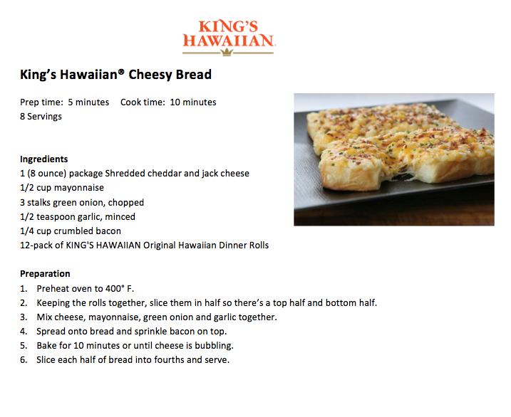 King's Hawaiian Cheesy Bread