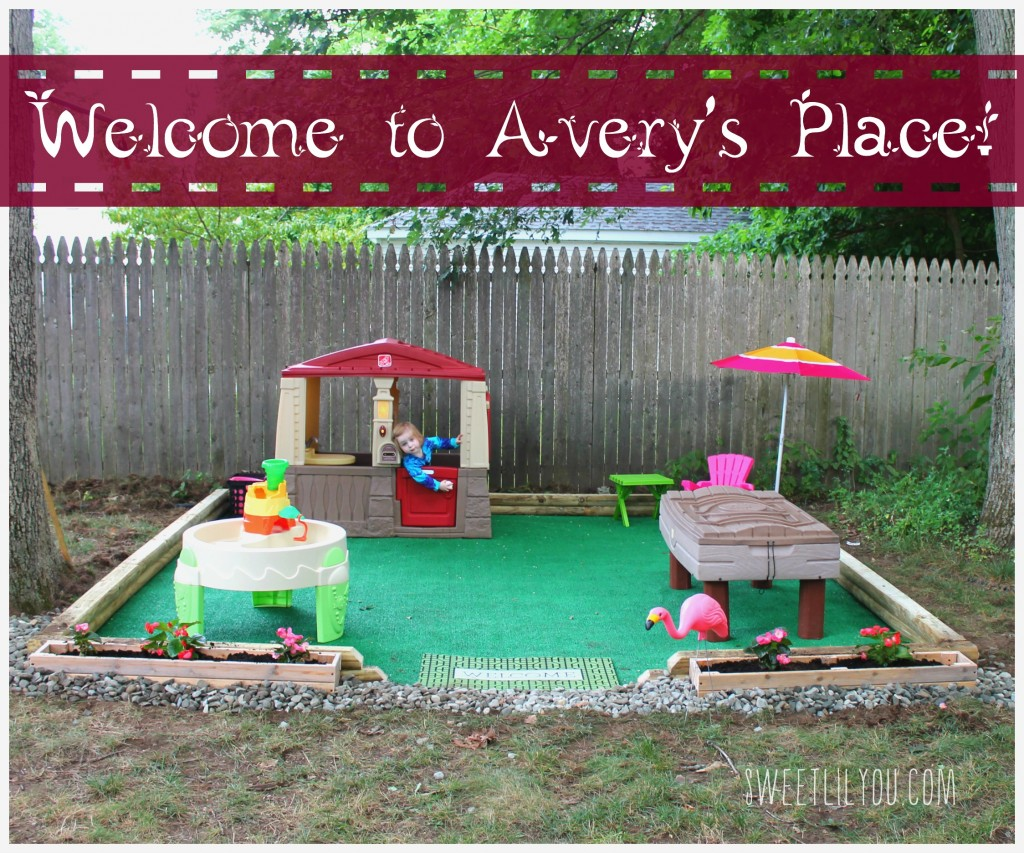 Diy outdoor play space avery 39 s place sweet lil you for Play yard plans