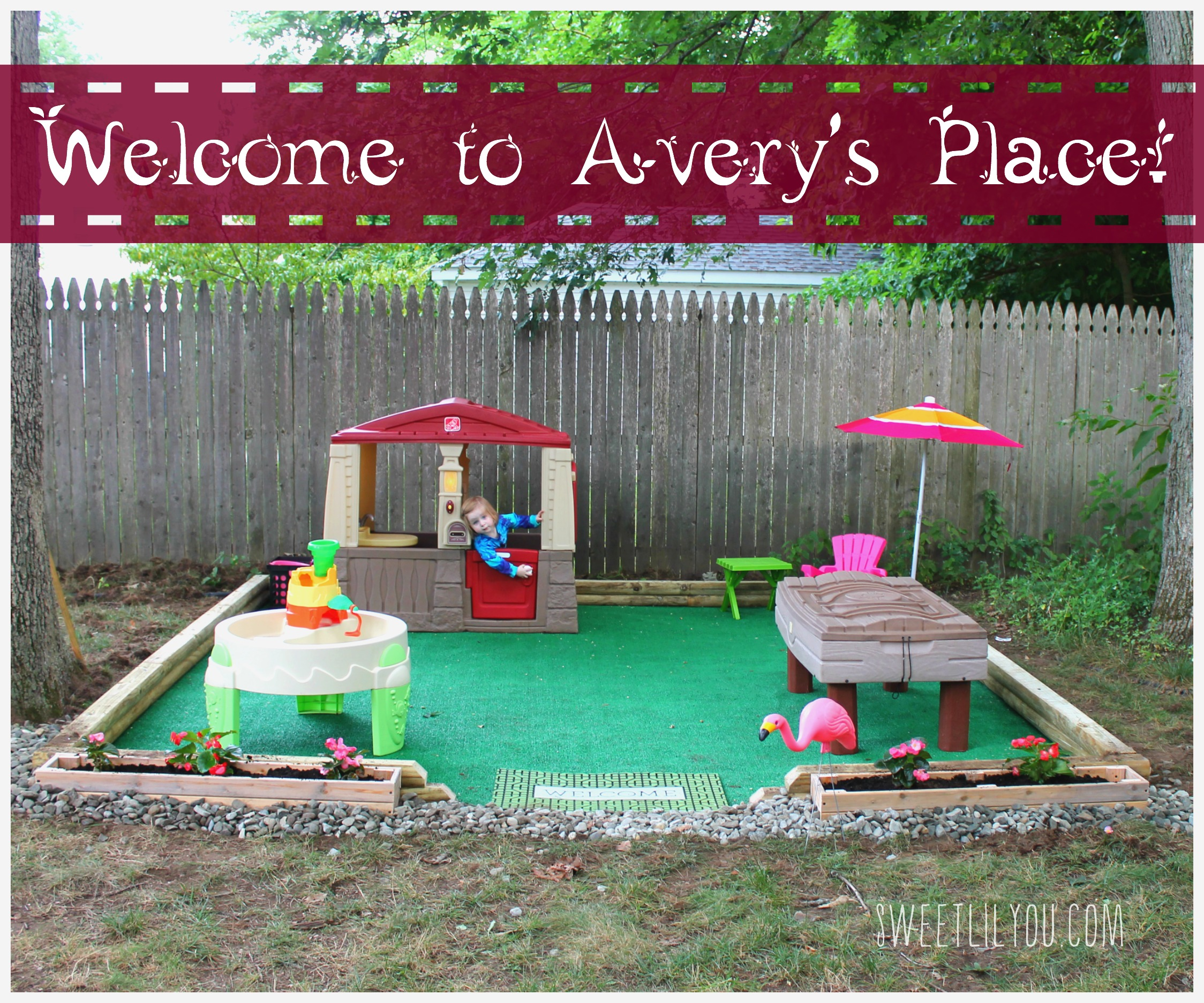 Diy Outdoor Play Space Avery S Place Sweet Lil You