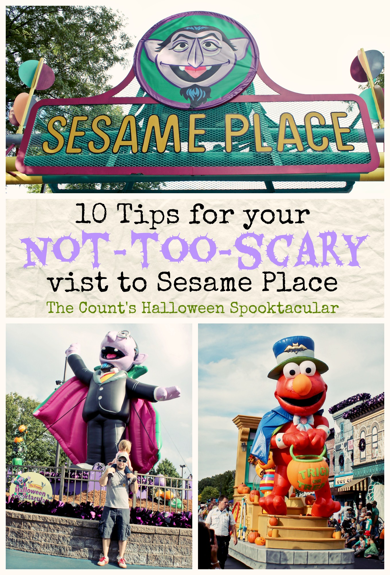 10 Tips for your Visit to Sesame Place and The Count's Halloween Spooktacular! #sesameplace #travel #familytravel