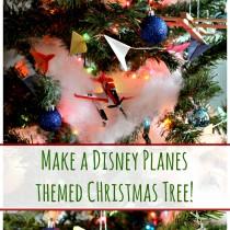 DIY DIsney Planes Themed Christmas Tree! #PlanesToTheRescue #ad