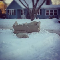 Old couch on the curb. Trash it, don't donate it!