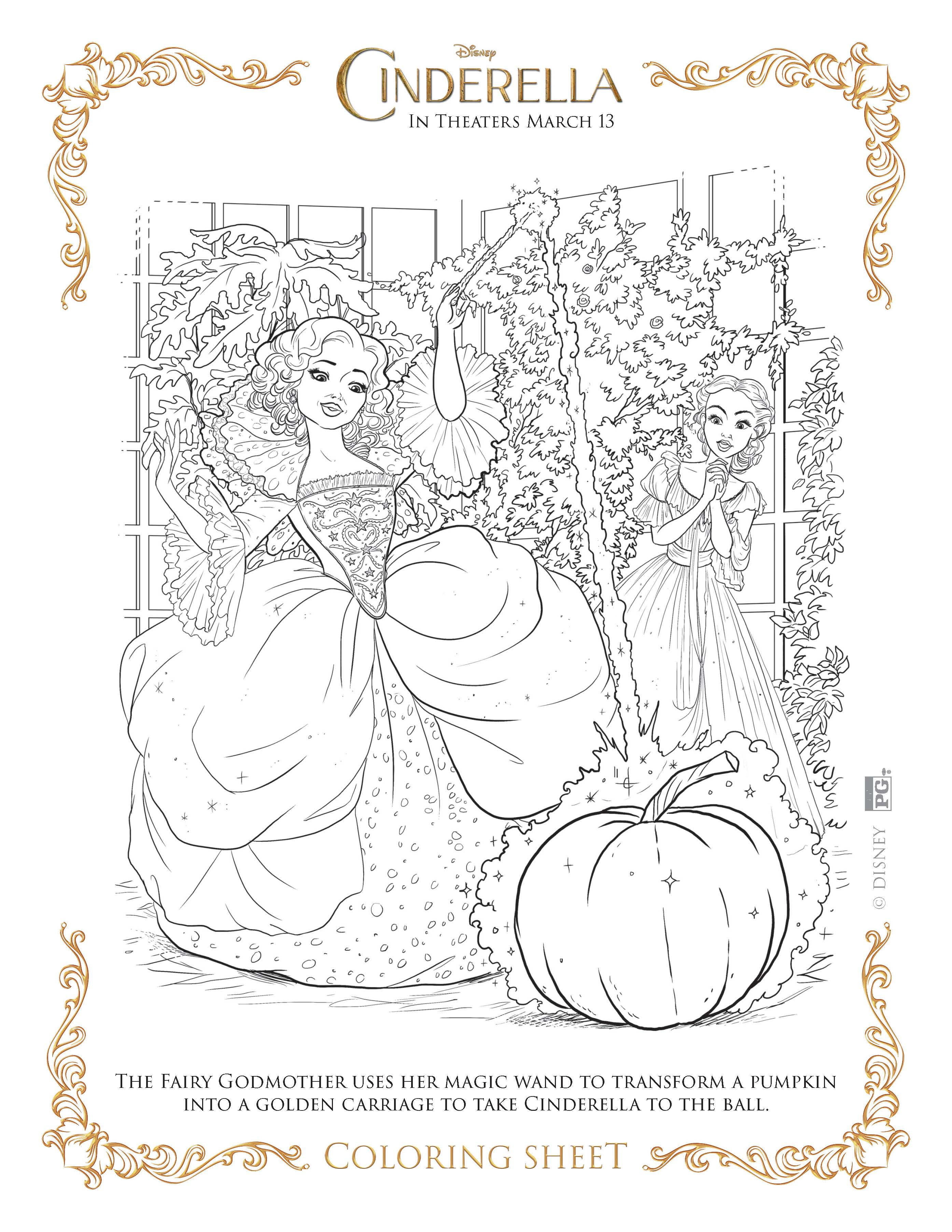 Cinderella Activity Printables Sweet Lil You 2015 Coloring Pages