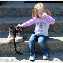 Daddy's boots are STINKY!!