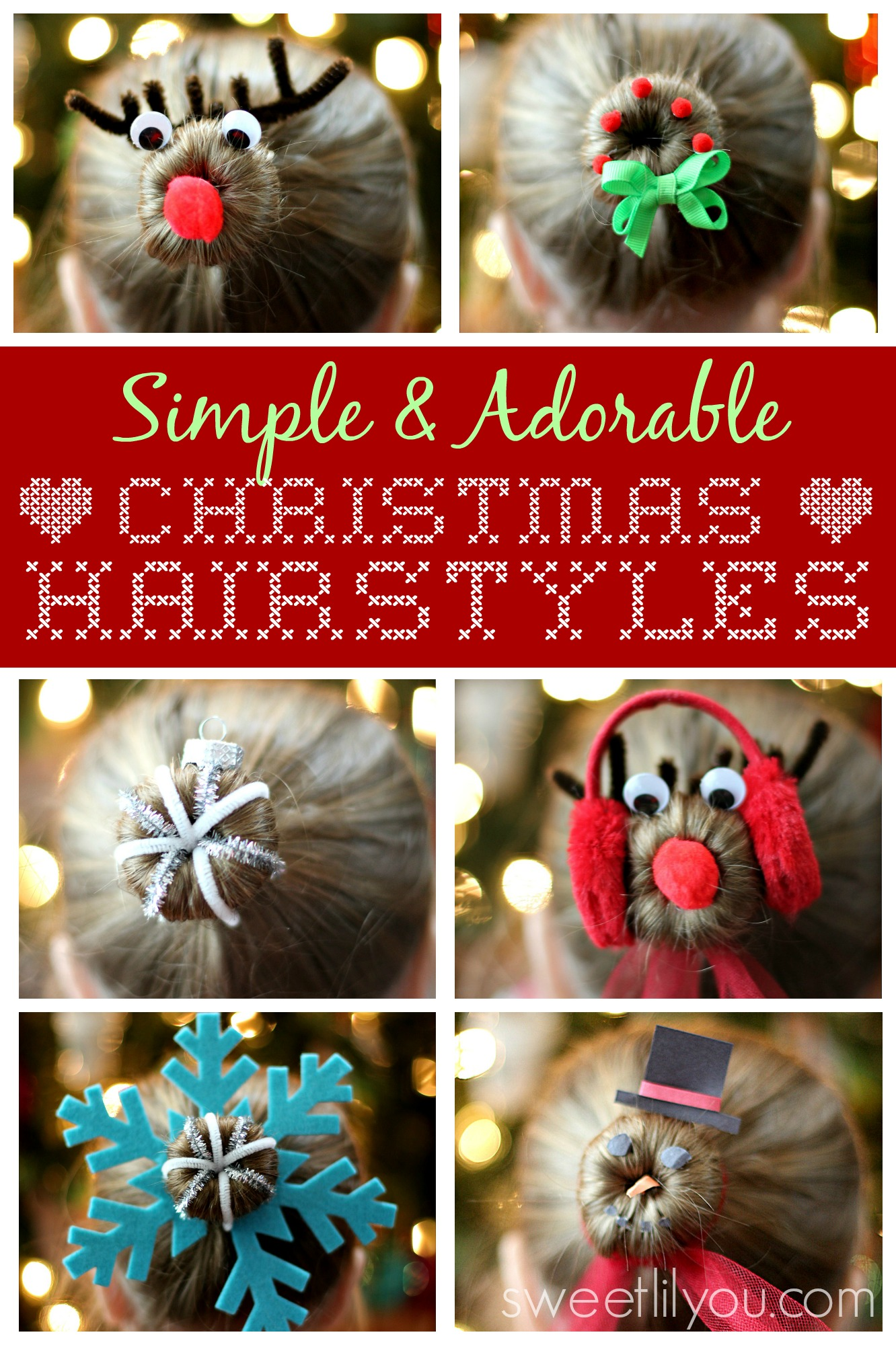 Simple Adorable Christmas Hairstyles Sweet Lil You