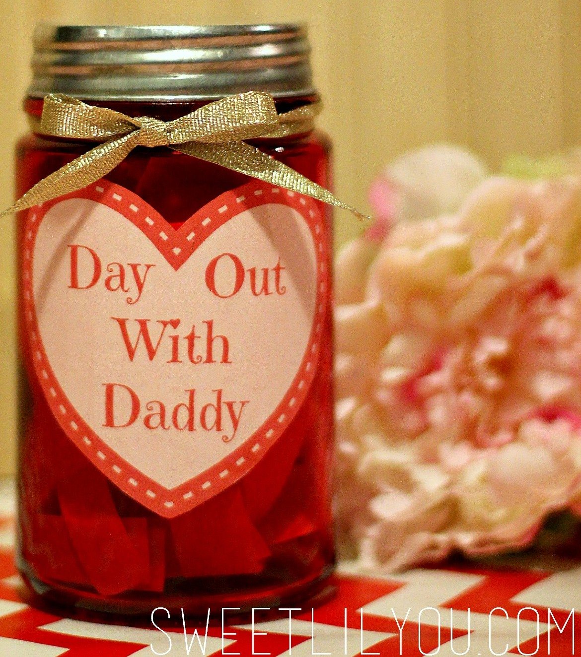 day out with daddy jar - valentine's day gift for dad - sweet lil you, Ideas