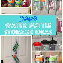 simple water bottle storage ideas