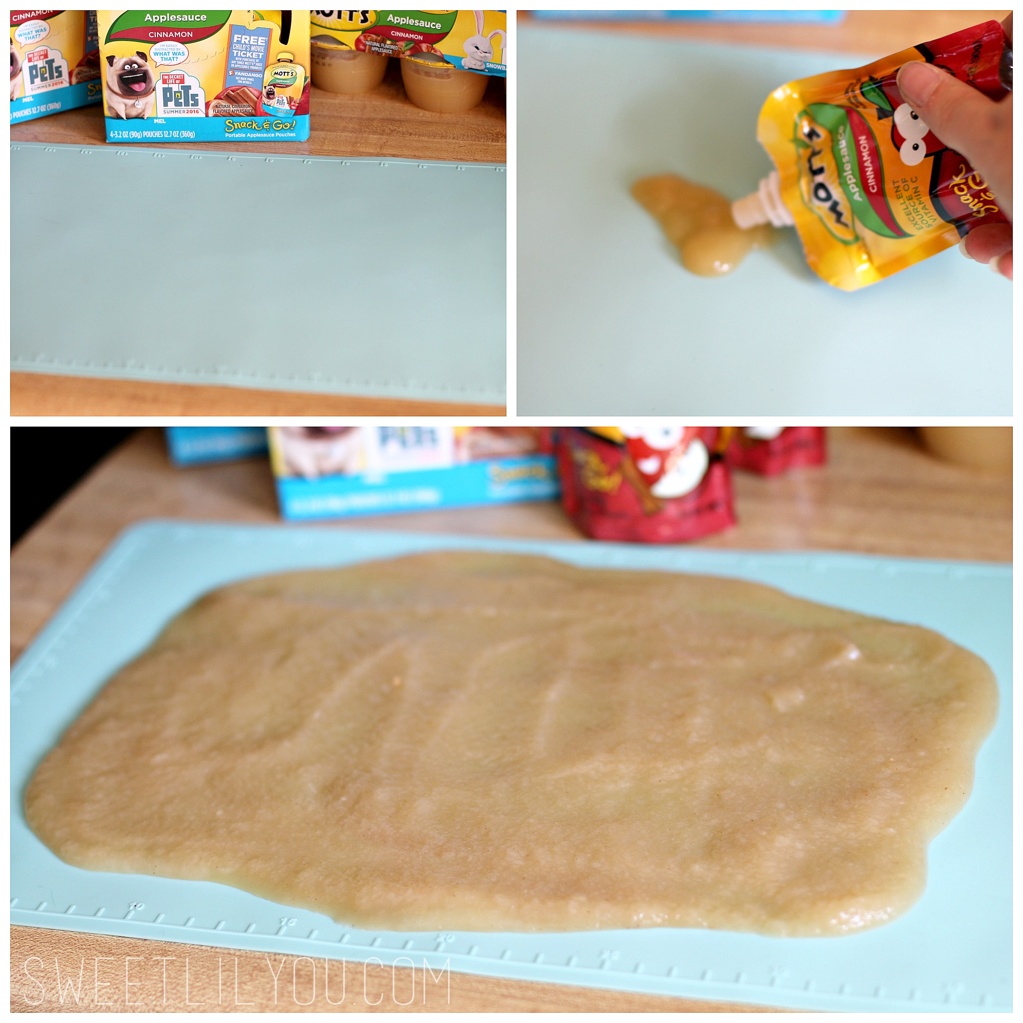 Applesauce Fruit Leather at home