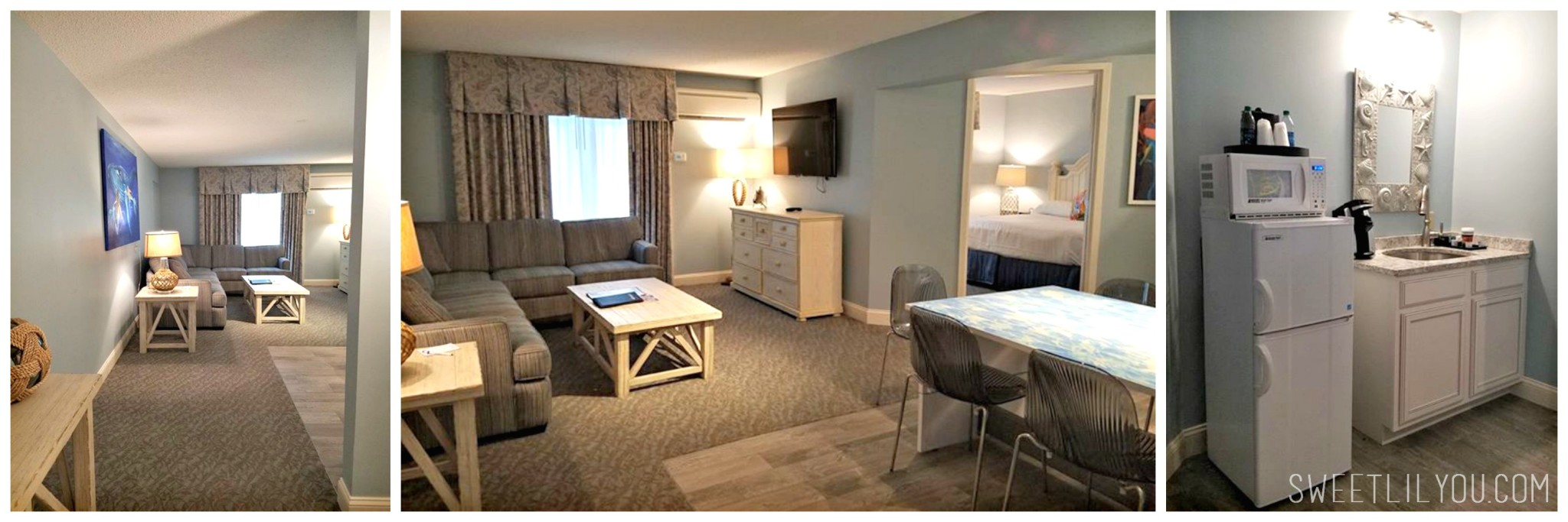 Main Room Kitchenette Cape Codder Family Suites