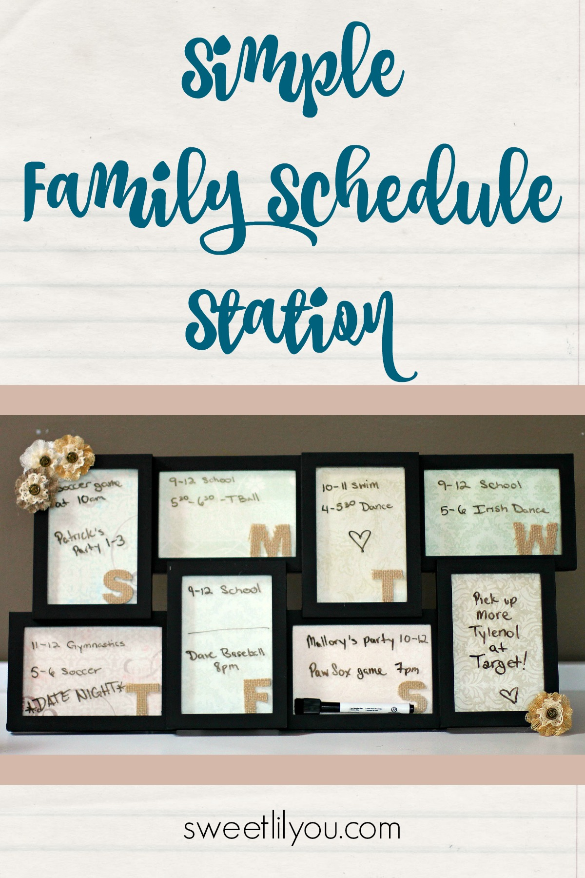 Simple Family Schedule Station