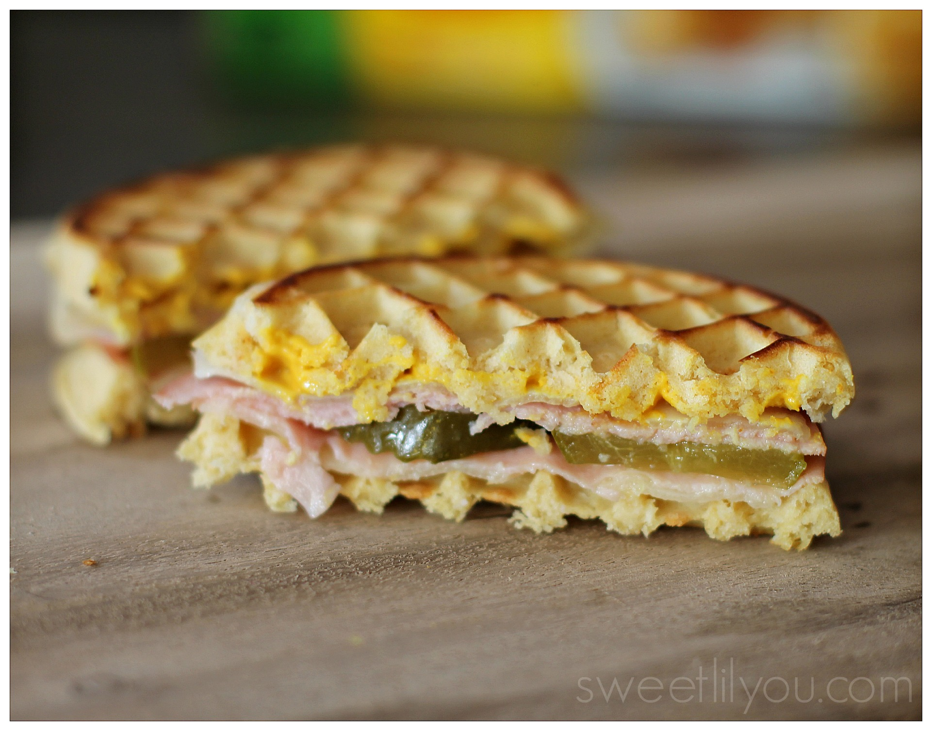 Cuban Grilled Cheese Waffle Sandwich
