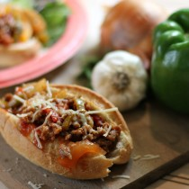 Sloppy Joes with sausage and peppers
