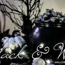 Black and White Halloween Movie Party